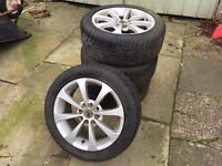 "Set of 4 15"" Vauxhall alloy wheels with tyres"