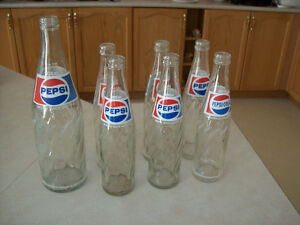 OLD  PEPSI  POP  BOTTLES