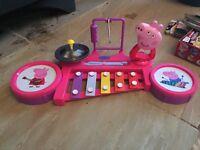 Peppa pig drum kit