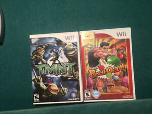 TMNT and Punch Out for the wii