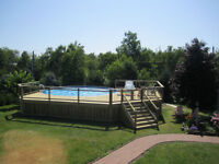 Vogue 27 foot pool, above ground. Price reduced!