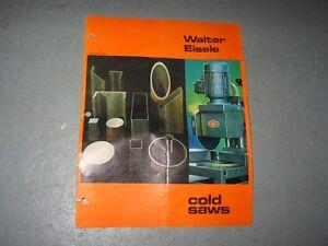 PIÈCES / PARTS: POUR WALTER EISELE COLD CUT SAW  VMS II