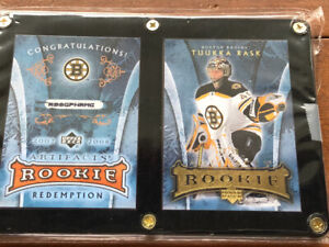 Rare Rask and Lucic Artifacts Rookie Cards