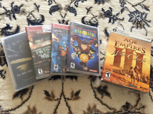PSP Games - slightly used 4 + 1 PC Game Age of Empires