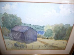Co-Worker with Group of Seven,T. W. McLean, Original Watercolor Stratford Kitchener Area image 2