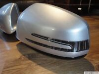 MERCEDES BENZ SALOON C CLASS W204 AMG POWER FOLD WING MIRRORS COMPLETE