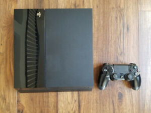PS4 500GB with controller, all hookups