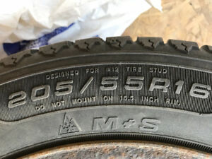One.  Rim with winter tire