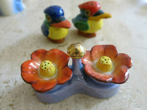 5 Salt and Pepper Shakers - antique, vintage and modern