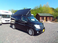 Nissan Elgrand four berth campervan with pop top