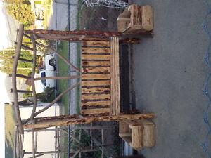 Garden bench trellis + 2 planter boxes