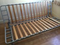 Sofa bed frame , 3 single mattresses carpets and 2 bed frames