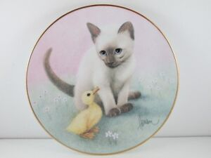 """The Hamilton Collection """" Chance Meeting"""" Kittens/Cat Plate"""
