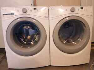Amana front load washer and dryer set