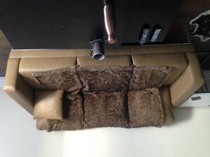 Faux leather 3 seater couch