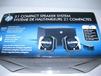 HP 2.1 Compact Speaker System New in the box (for Computer)