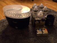 Tommee tippee steriliser, new bottles, new teats and warmer