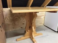 Small solid pine dining / kitchen table