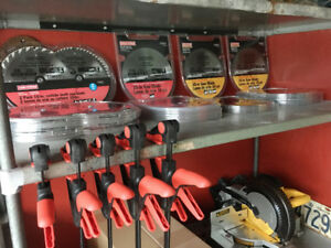 NEW Saw Blades, Bar Clamps, Auger Bits & More