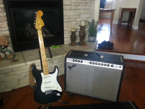 1974 American fender stratocaster and 1974 fender twin amp