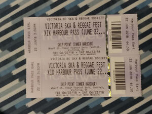 Two harbour passes for the Victoria Ska and Reggae fest