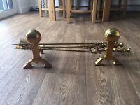 Brass Fire Set