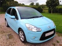 CITROEN C3 1.6 HDI (90) EXCLUSIVE. 2010, In Stunning Botticelli Blue only 46k from new.