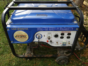 2xGénératrice 6500W/3500W-2xPower Generator For Parts or Repair