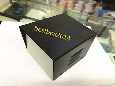 4.8x3.8x3 Black Diy Metal Electronic Project Box Transformer Enclosure Case