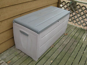 Large Plastic Patio and Deck Storage Box