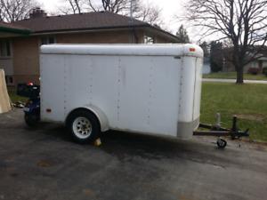 Enclosed trailer.