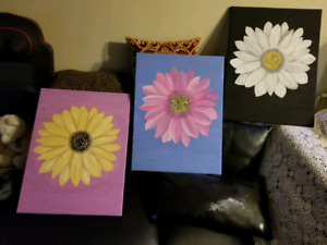 Beautiful Daisy new art canvas acrylic painting
