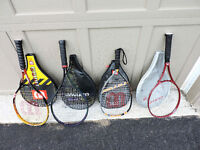 Assorted Racket Ball and Tennis Rackets