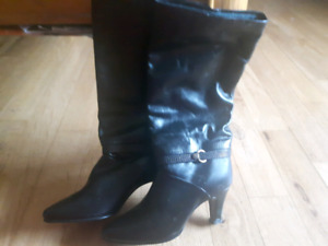 NEW Leather Dress Boots Size 5 1/2