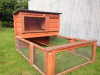 Guinea pig /rabbit hutch and run