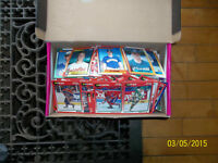 Shoebox full of older hockey and baseball cards-Look