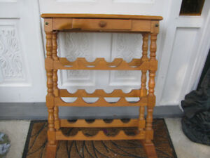 Wine Rack Colonial Style With Top Drawer..