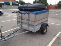GALVANISED CAMPING TRAILER WITH EXTRAS