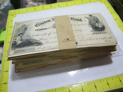 CLINTON NATIONAL BANK NJ 1867 POST CIVIL WAR OBSOLETE BANK CHECK (1) FROM HOARD