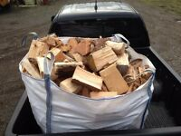 Dry fire wood logs ready to burn free local delivery