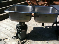 double stainless kichen sink