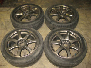 235/45/17 BLIZZAK TIRES WORK EMOTION MAG WHEEL JANETS JDM