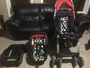 Baby car seat with base and stroller and more