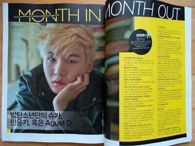 BTS Bangtan SUGA/Cutting 10P-Magazine Clippings [Collected] Korea/RARE