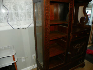 antique sideboard hutch