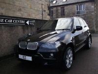 "08 58 BMW X5 3.0SD M-SPORT DIESEL 5DR BLACK PANROOF SATNAV REVERSE CAM 20""ALLOYS"