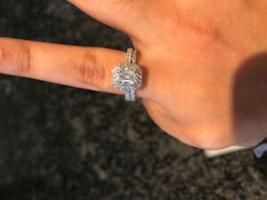 1.5 ctw white gold engagement ring