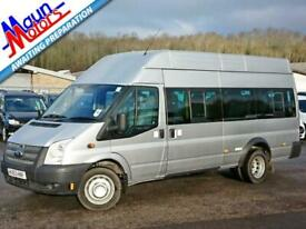 "2013 ""63"" Ford Transit T430 TDCi 135PS, LWB EF, 17 Seat PSV Minibus, Air Con,"