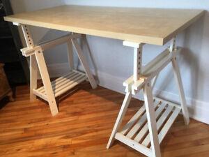 Bureau Ikea ajustable 40$