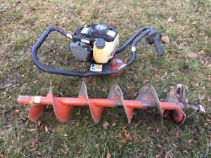One man auger/post hole digger/earth drill with 8inch bit